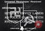 Image of demonstrating communists Brooklyn New York City USA, 1933, second 9 stock footage video 65675037113