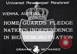 Image of homeguards pledge independence Vienna Austria, 1933, second 1 stock footage video 65675037115