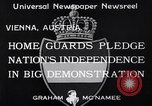 Image of homeguards pledge independence Vienna Austria, 1933, second 4 stock footage video 65675037115