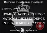 Image of homeguards pledge independence Vienna Austria, 1933, second 7 stock footage video 65675037115