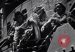 Image of Three girls are among passengers leaving on Matson ocean liner Honolulu Hawaii USA, 1942, second 3 stock footage video 65675037126