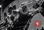Image of Three girls are among passengers leaving on Matson ocean liner Honolulu Hawaii USA, 1942, second 4 stock footage video 65675037126