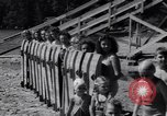 Image of girls in water park Enfield Maine USA, 1938, second 7 stock footage video 65675037137