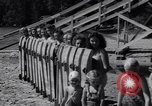 Image of girls in water park Enfield Maine USA, 1938, second 8 stock footage video 65675037137