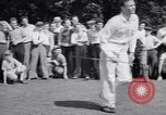 Image of golfer J Smith Ferebree Olympia Fields Illinois USA, 1938, second 9 stock footage video 65675037138