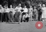 Image of golfer J Smith Ferebree Olympia Fields Illinois USA, 1938, second 10 stock footage video 65675037138