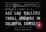 Image of log rollers Nova Scotia, 1938, second 6 stock footage video 65675037141