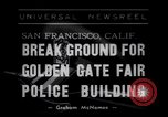 Image of Golden Gate Fair Police building San Francisco California USA, 1938, second 1 stock footage video 65675037142