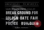 Image of Golden Gate Fair Police building San Francisco California USA, 1938, second 2 stock footage video 65675037142