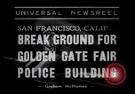 Image of Golden Gate Fair Police building San Francisco California USA, 1938, second 4 stock footage video 65675037142