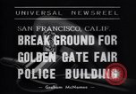 Image of Golden Gate Fair Police building San Francisco California USA, 1938, second 5 stock footage video 65675037142