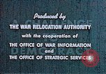 Image of Japanese relocated United States USA, 1944, second 9 stock footage video 65675037154