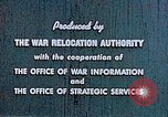 Image of Japanese relocated United States USA, 1944, second 11 stock footage video 65675037154