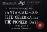 Image of Santa-Cali-Gon Fete celebrations Independence Missouri USA, 1940, second 1 stock footage video 65675037167
