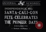 Image of Santa-Cali-Gon Fete celebrations Independence Missouri USA, 1940, second 2 stock footage video 65675037167