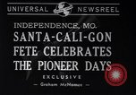 Image of Santa-Cali-Gon Fete celebrations Independence Missouri USA, 1940, second 3 stock footage video 65675037167