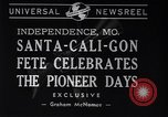 Image of Santa-Cali-Gon Fete celebrations Independence Missouri USA, 1940, second 7 stock footage video 65675037167