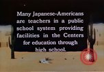 Image of relocation center school children United States USA, 1940, second 1 stock footage video 65675037173