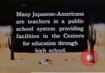 Image of relocation center school children United States USA, 1940, second 2 stock footage video 65675037173