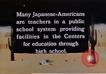 Image of relocation center school children United States USA, 1940, second 3 stock footage video 65675037173