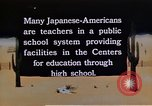 Image of relocation center school children United States USA, 1940, second 4 stock footage video 65675037173