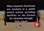 Image of relocation center school children United States USA, 1940, second 7 stock footage video 65675037173