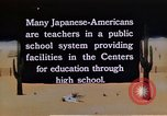Image of relocation center school children United States USA, 1940, second 8 stock footage video 65675037173