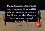 Image of relocation center school children United States USA, 1940, second 9 stock footage video 65675037173