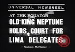 Image of court of Old King Neptune Lima Peru, 1938, second 1 stock footage video 65675037204