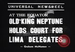 Image of court of Old King Neptune Lima Peru, 1938, second 6 stock footage video 65675037204
