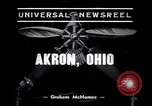 Image of lighter than air blimp Akron Ohio USA, 1938, second 2 stock footage video 65675037210