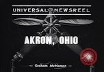 Image of lighter than air blimp Akron Ohio USA, 1938, second 3 stock footage video 65675037210