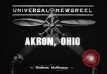 Image of lighter than air blimp Akron Ohio USA, 1938, second 4 stock footage video 65675037210