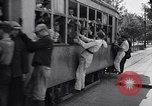 Image of loaded streetcar Germany, 1938, second 3 stock footage video 65675037224