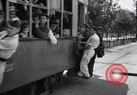 Image of loaded streetcar Germany, 1938, second 4 stock footage video 65675037224