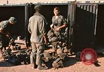 Image of unloading combat gear Vietnam, 1969, second 6 stock footage video 65675037300