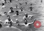 Image of prisoners swimming and playing Pacific theater, 1941, second 10 stock footage video 65675037310