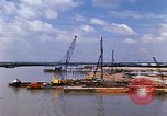 Image of port construction South Vietnam, 1966, second 5 stock footage video 65675037332