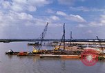 Image of port construction South Vietnam, 1966, second 6 stock footage video 65675037332