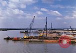 Image of port construction South Vietnam, 1966, second 7 stock footage video 65675037332