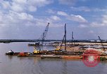 Image of port construction South Vietnam, 1966, second 8 stock footage video 65675037332