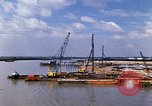 Image of port construction South Vietnam, 1966, second 9 stock footage video 65675037332