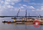 Image of port construction South Vietnam, 1966, second 10 stock footage video 65675037332