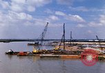 Image of port construction South Vietnam, 1966, second 12 stock footage video 65675037332
