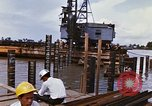 Image of Port construction Saigon Vietnam, 1966, second 6 stock footage video 65675037341