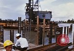 Image of Port construction Saigon Vietnam, 1966, second 7 stock footage video 65675037341