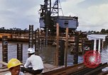 Image of Port construction Saigon Vietnam, 1966, second 8 stock footage video 65675037341
