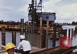 Image of Port construction Saigon Vietnam, 1966, second 9 stock footage video 65675037341