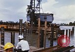 Image of Port construction Saigon Vietnam, 1966, second 10 stock footage video 65675037341