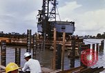 Image of Port construction Saigon Vietnam, 1966, second 11 stock footage video 65675037341